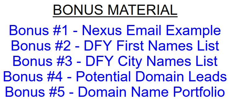 Nexus Profits Review & Bonuses
