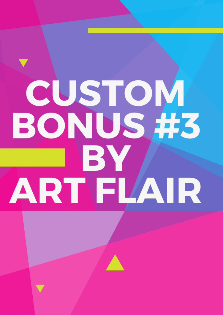 Custom Bonuses of 7min sales machine by Art Flair