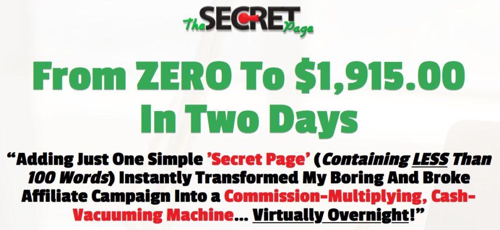The Secret Page Review and Bonus