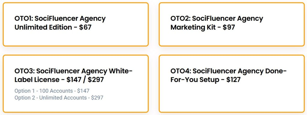 SociFluencer Agency Review and Funnel