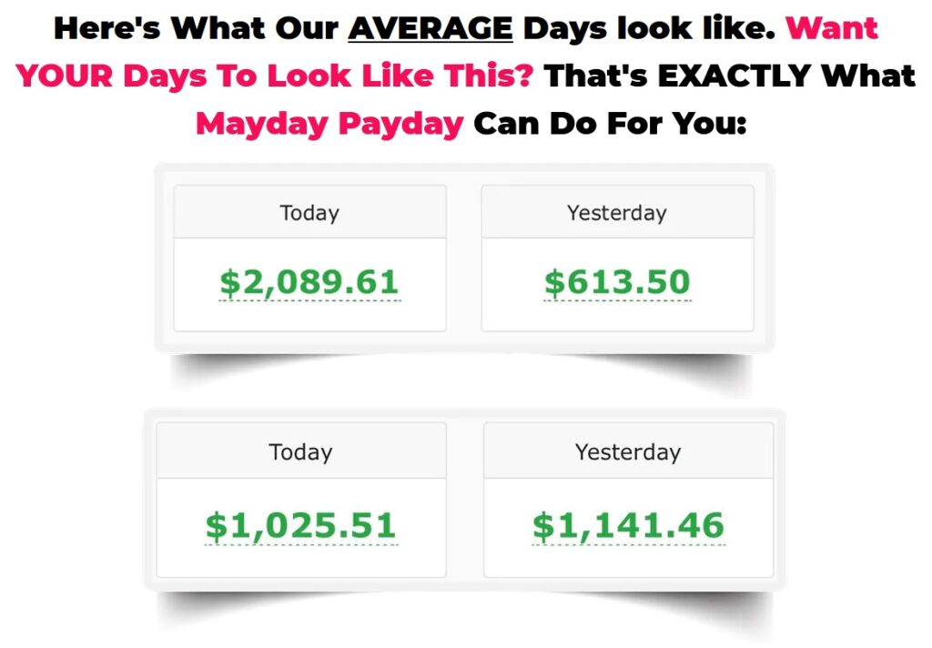 Mayday Payday Review and Proof